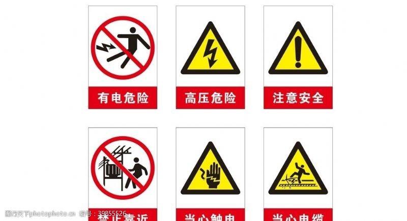 生活电箱警示牌图片