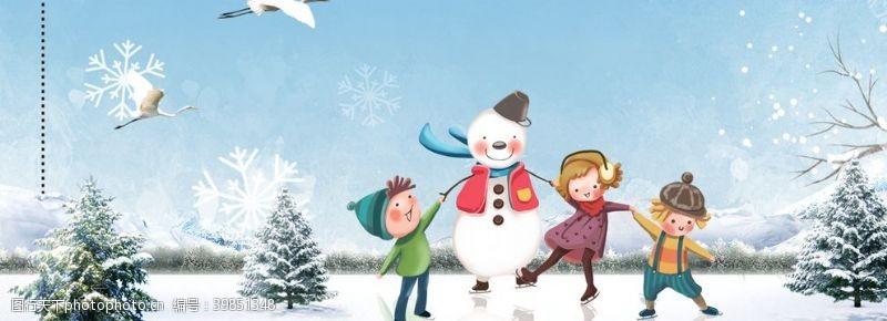冬季卡通海报图片