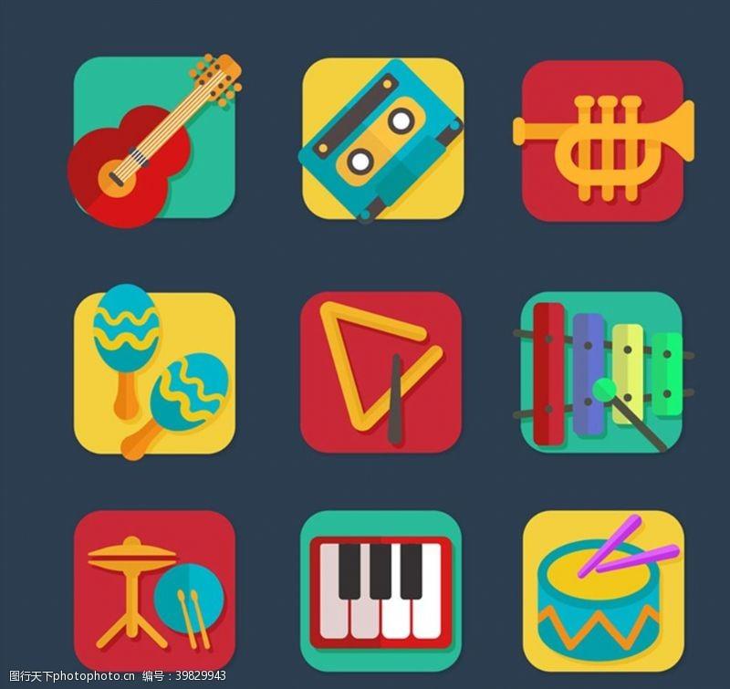 磁带方形乐器图标图片