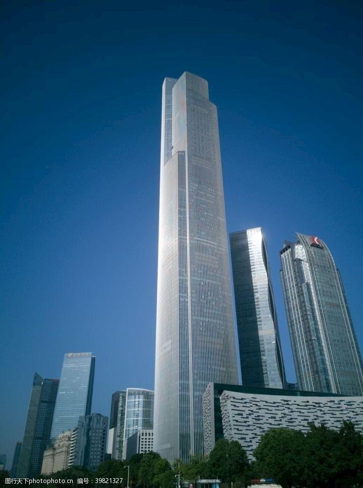 城市剪影广州东塔图片