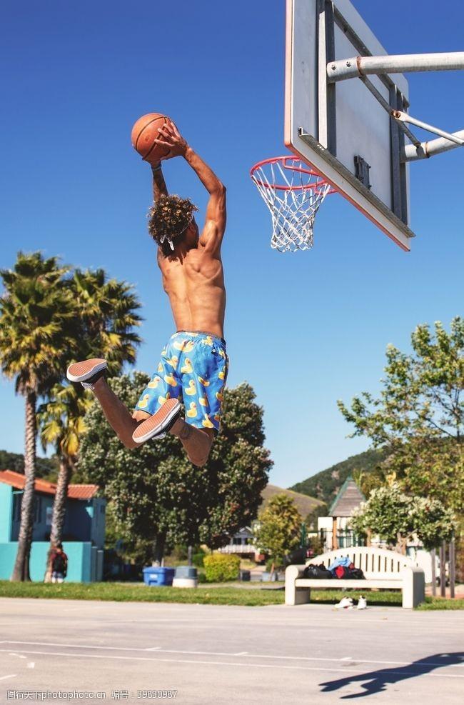 体育健身灌篮图片
