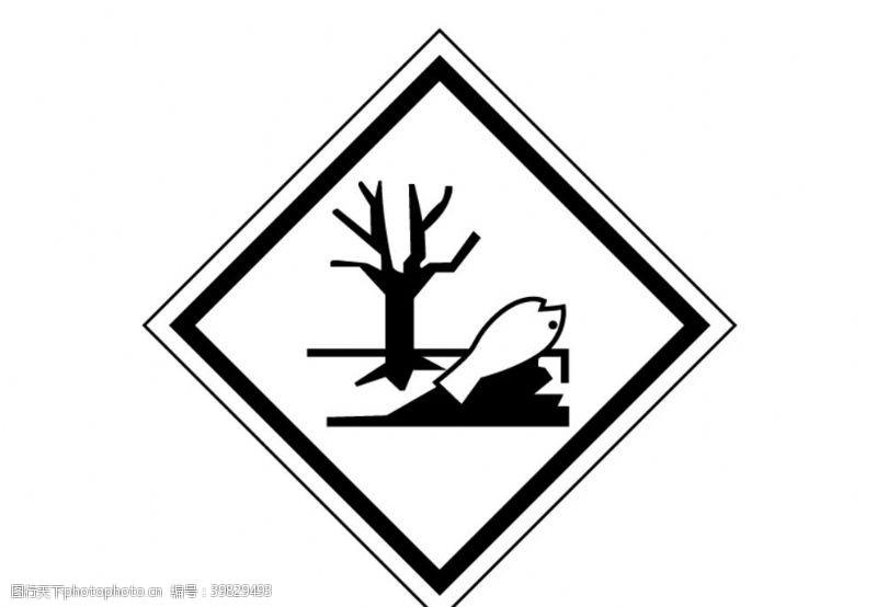 海洋污染标贴图片