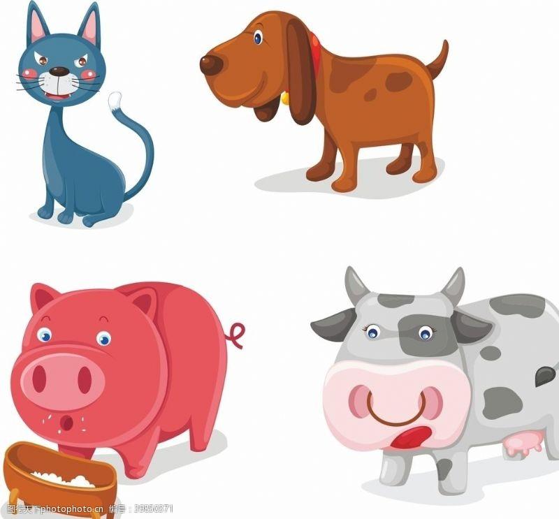 卡通奶牛卡通动物图片