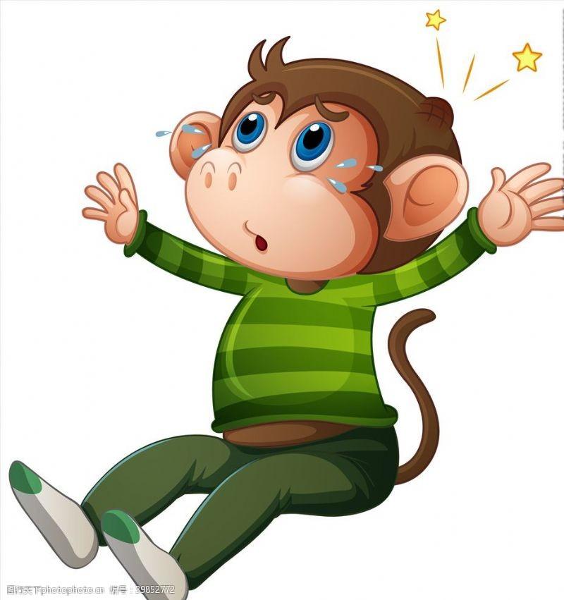 动物世界卡通猴子图片