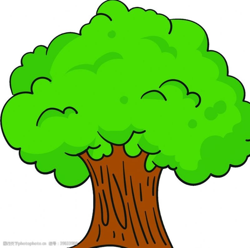 智慧树卡通树图片