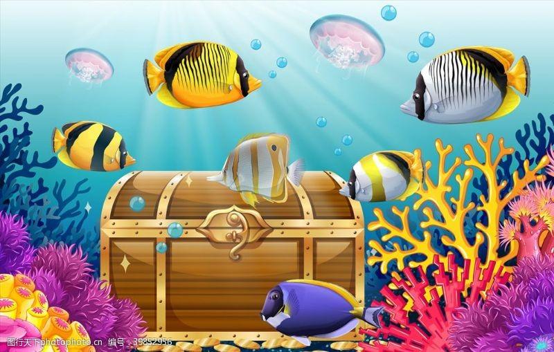 海洋卡通鱼图片