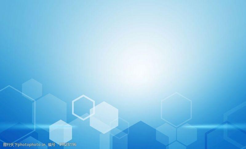 数码科技蓝色简约科技风几何背景图片