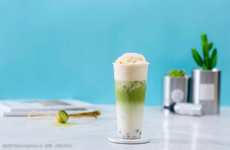 小商品抹茶冰激凌奶茶图片