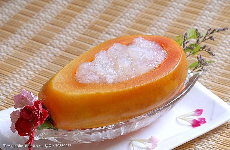 海鲜木瓜炖雪蛤图片