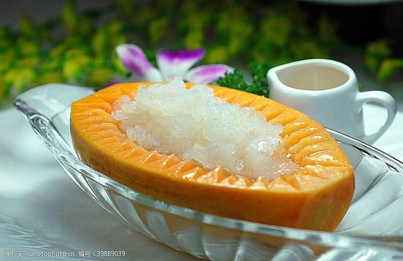 海鲜木瓜炖雪哈图片