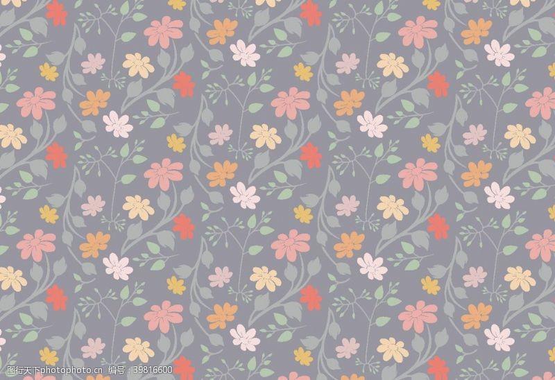 卡通背景图矢量花植物背景图图片