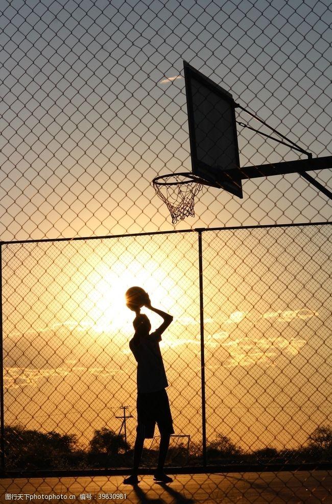 体育健身投篮图片