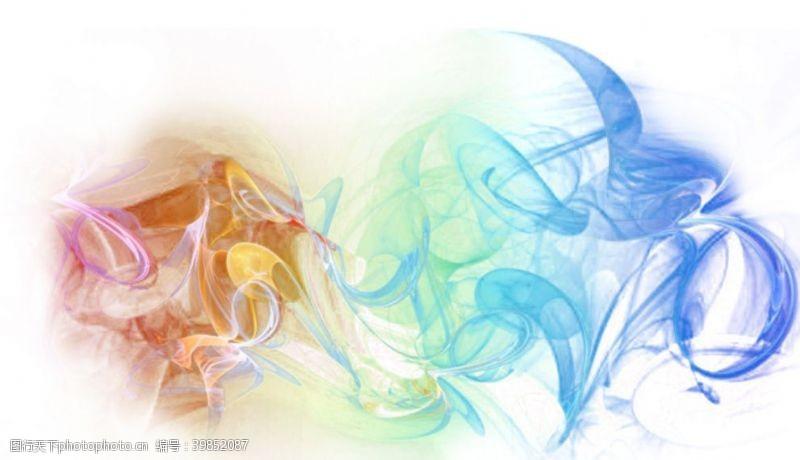 炫彩烟雾特效图片