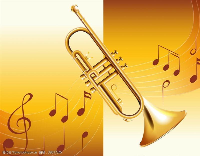 音乐素材音符与乐器图片