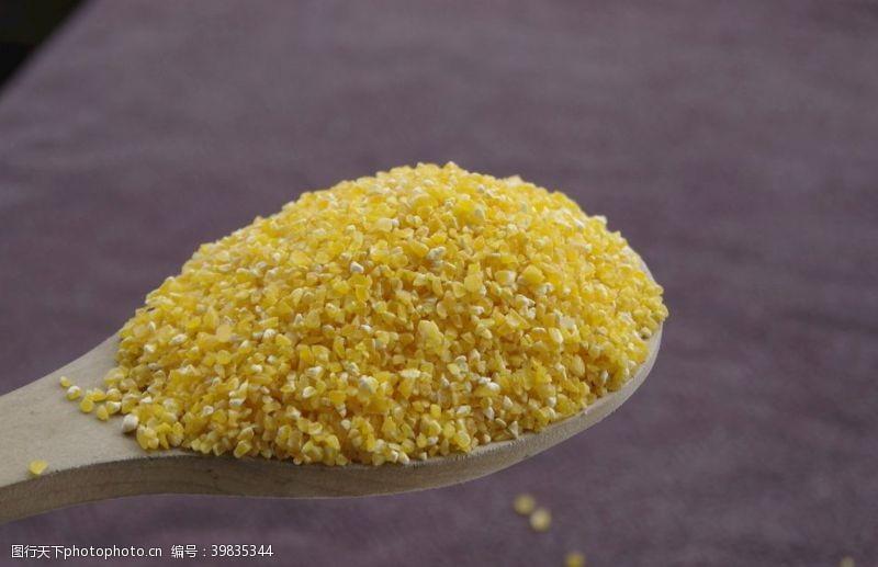 玉米碎玉米渣图片