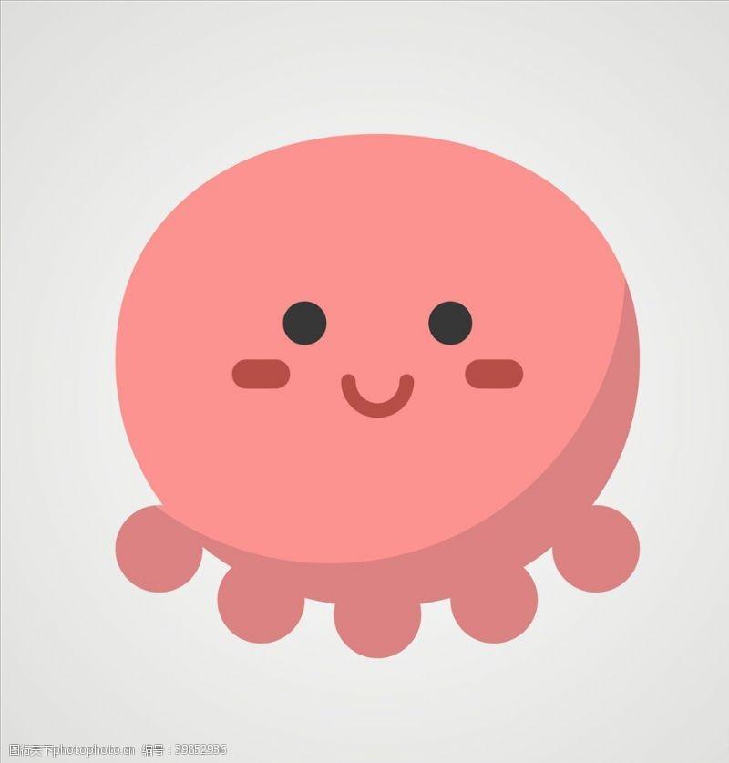 海洋章鱼矢量章鱼图片