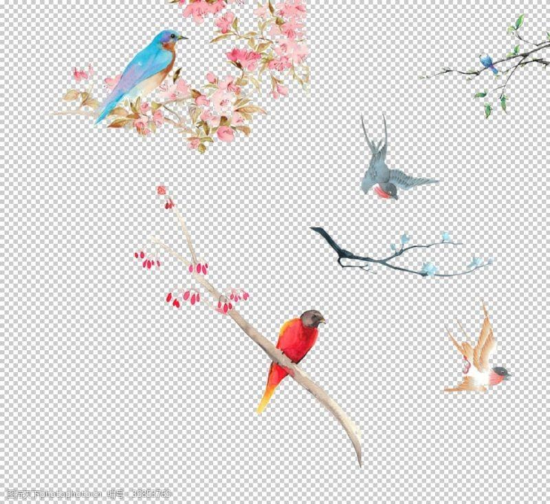 59dpi中国风花鸟素材图片