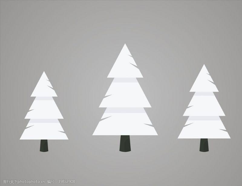 紫檀大树雪松矢量树冬季树图片