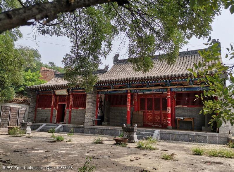 农村古村小庙图片