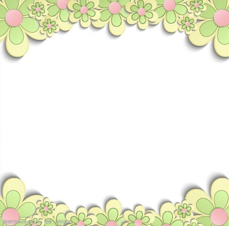 卡通花朵花朵装饰背景图片