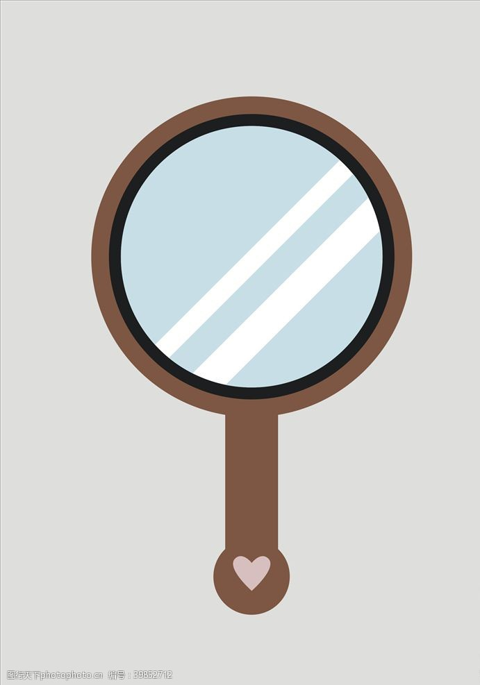 吹风机镜子化妆镜图片