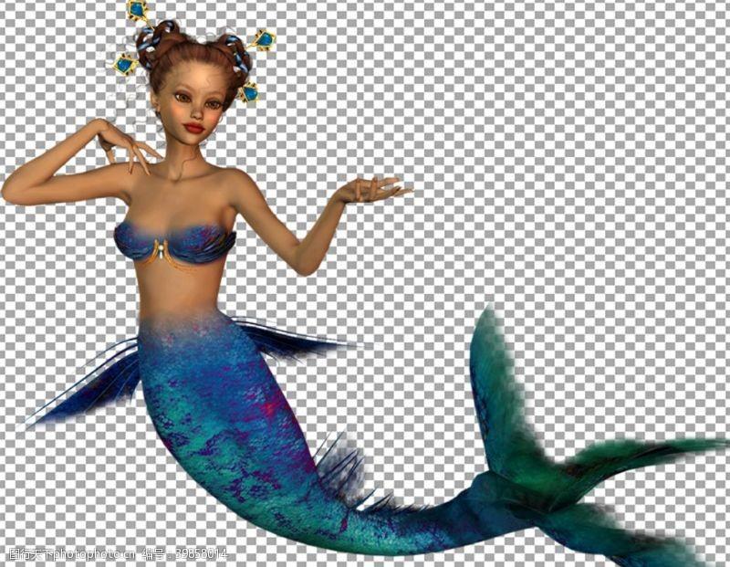 棋牌美人鱼图片