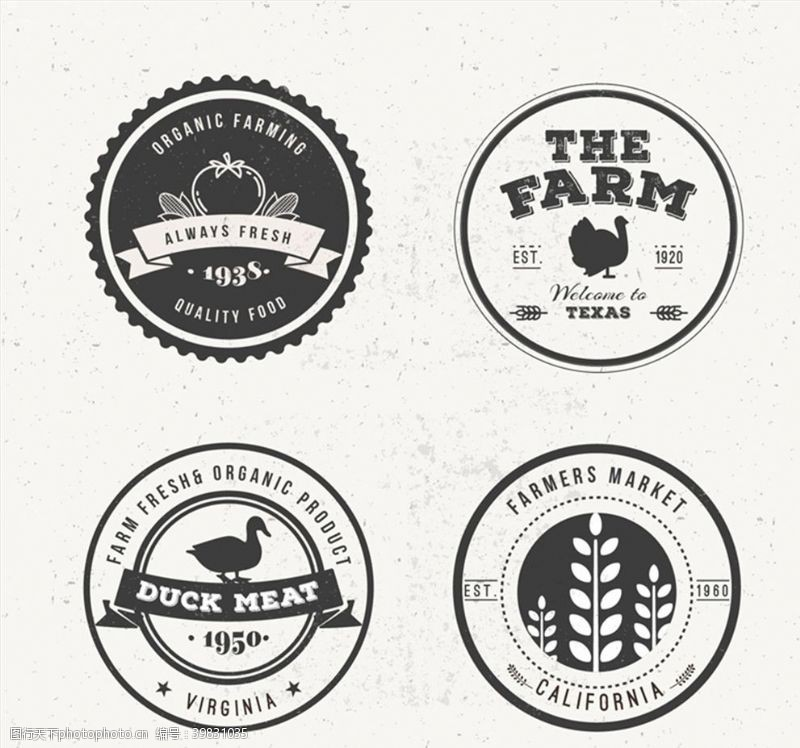 圆形标签农场产品标签图片