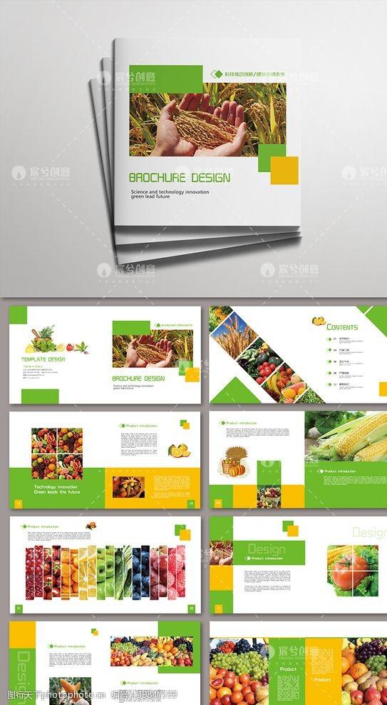 公司画册农业农产品绿色食品简约环保画册图片