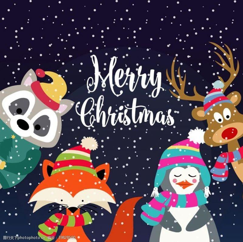 野生动物圣诞节图片