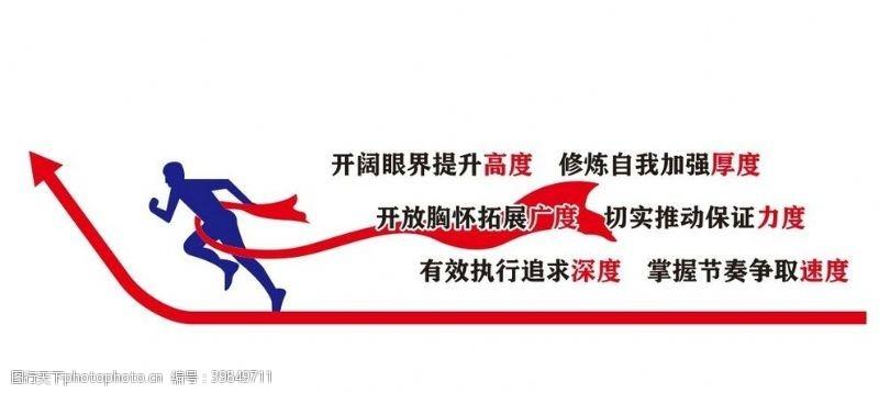 企业形象矢量励志形象墙图片