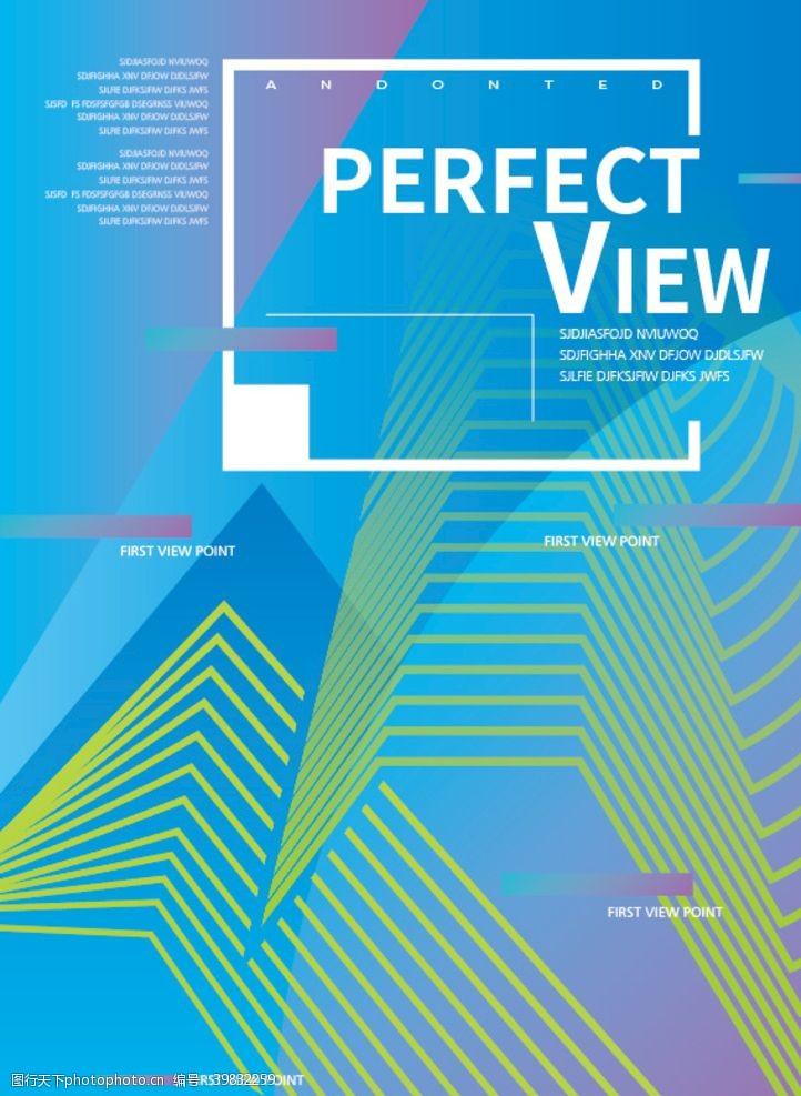 现代矢量线条版式抽象背景图片