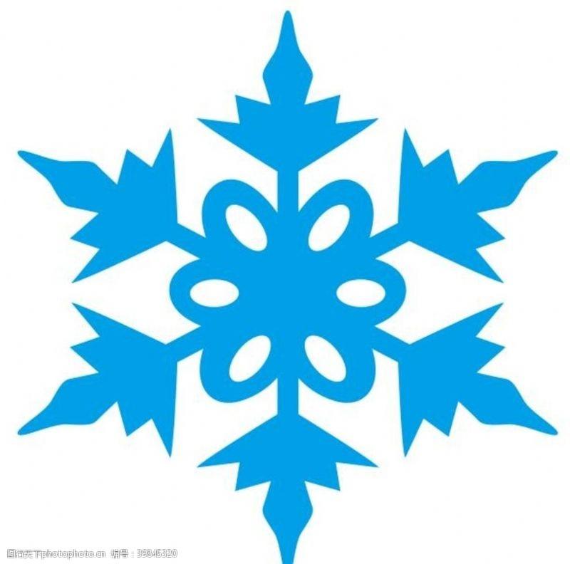 天气预报矢量雪花片图片