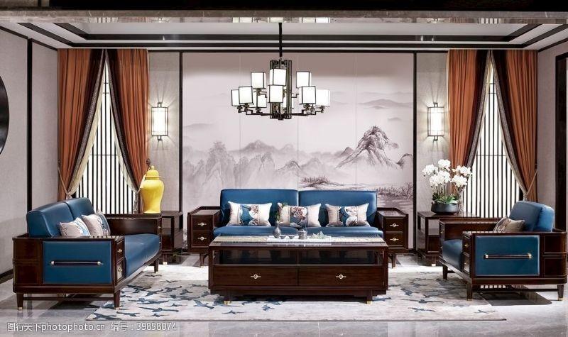設計新中式客廳圖片