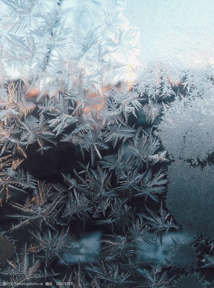 单图1雪花冰霜背景图片