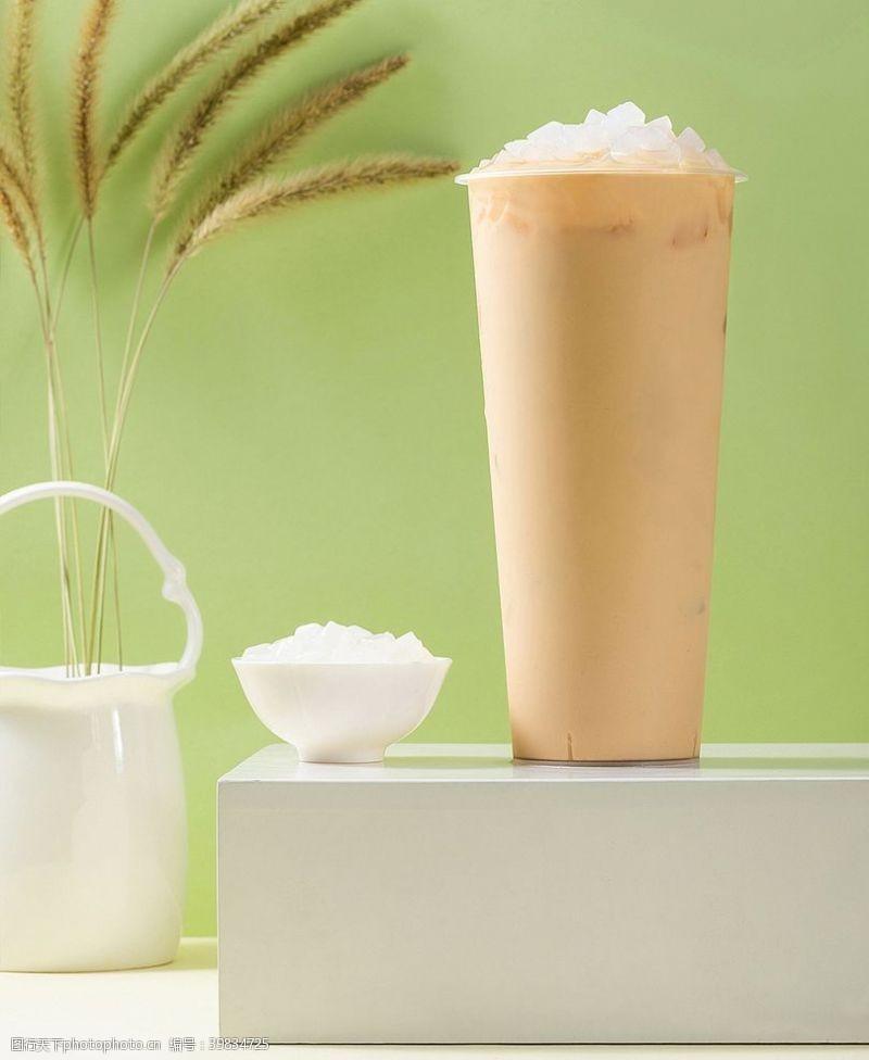 椰果奶茶图片
