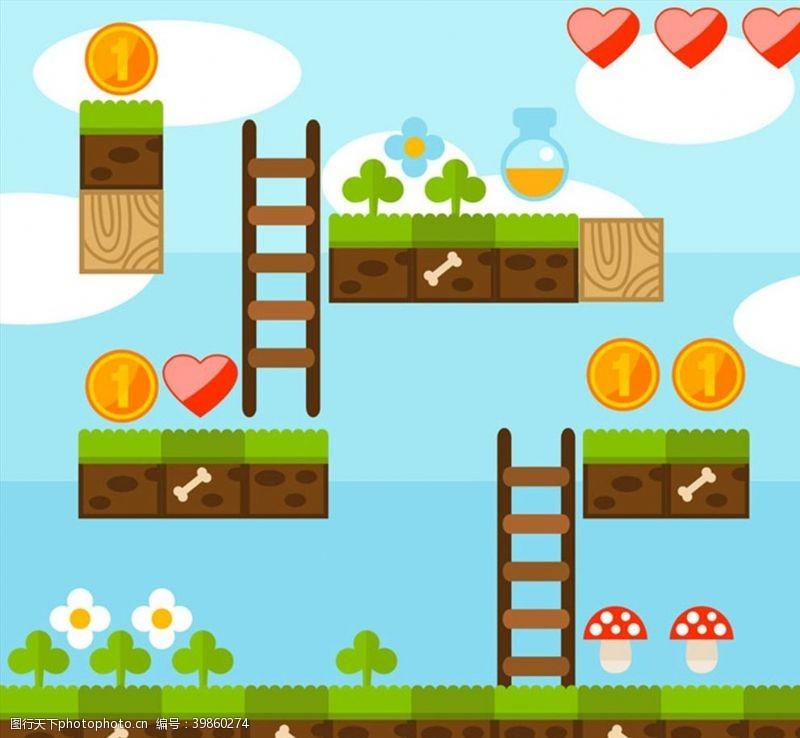 金币超级玛丽游戏场景图片