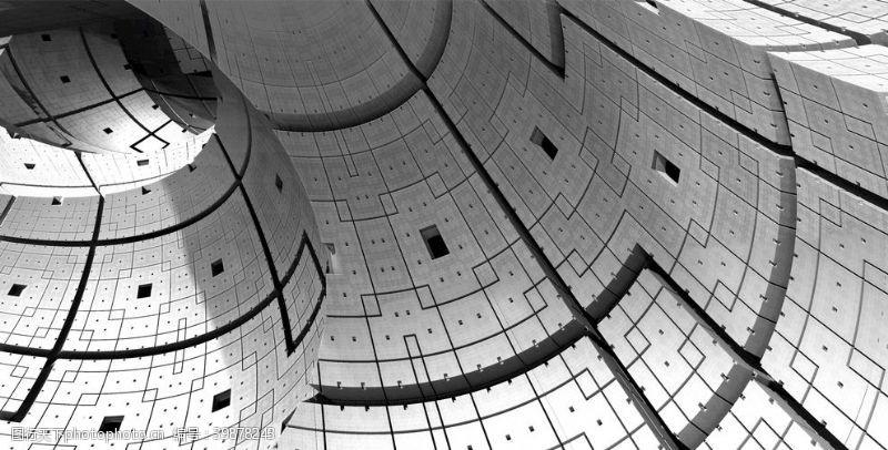 挂画抽象立体建筑物图片
