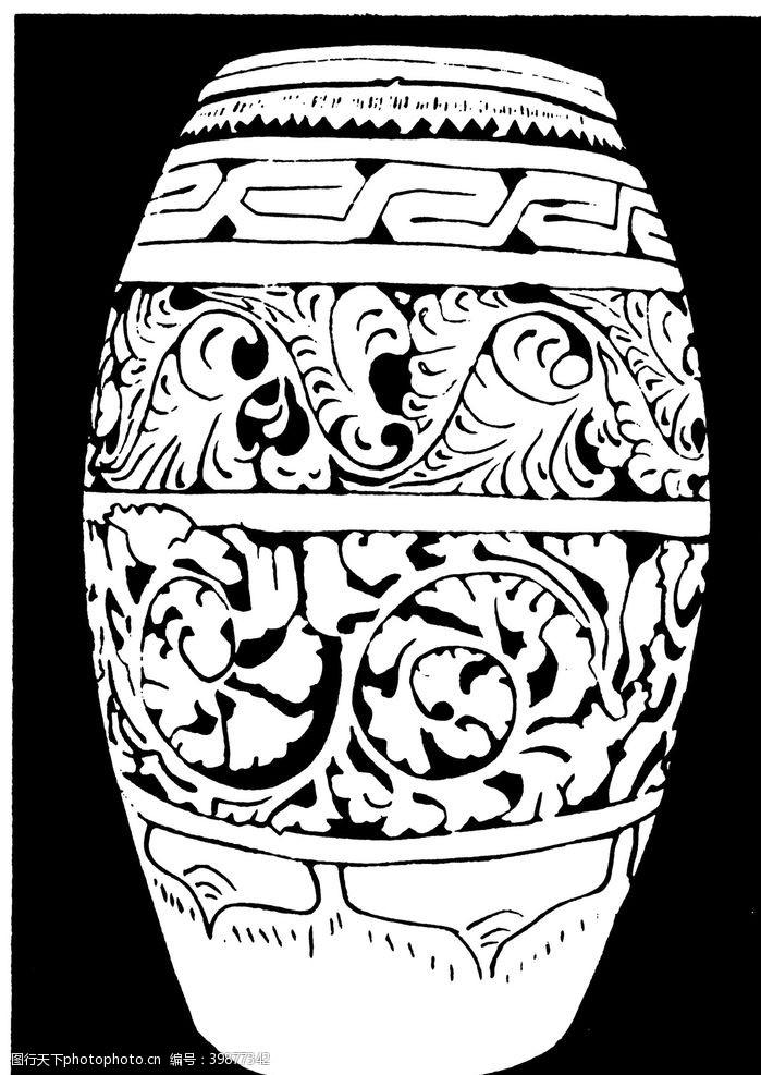 陶瓷花纹罐子花纹图片