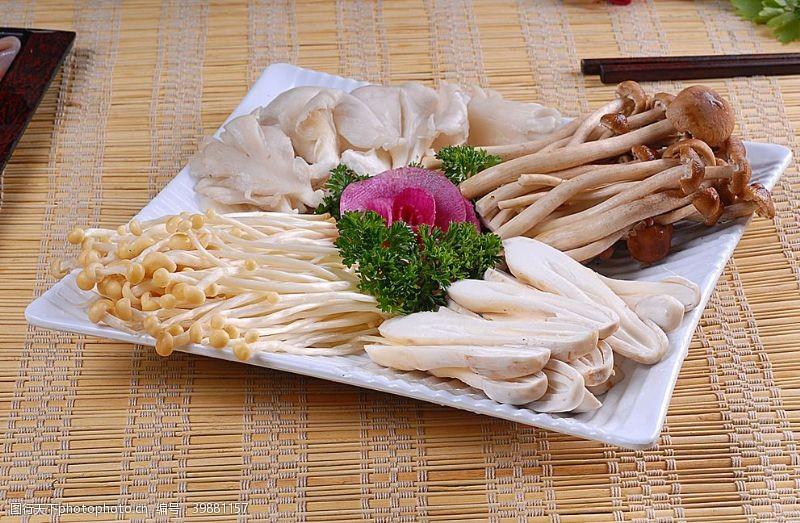 火锅配菜拼菇类拼盘图片