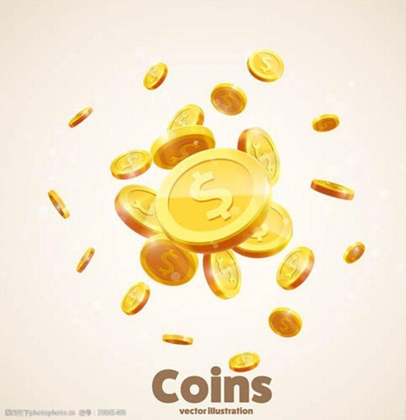 金币立体质感钱币图片