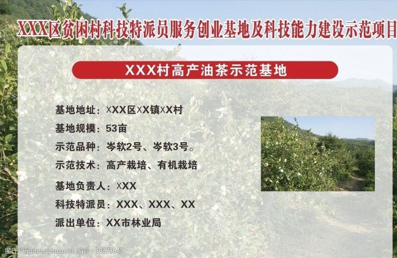 介绍农产品示范基地板报图片