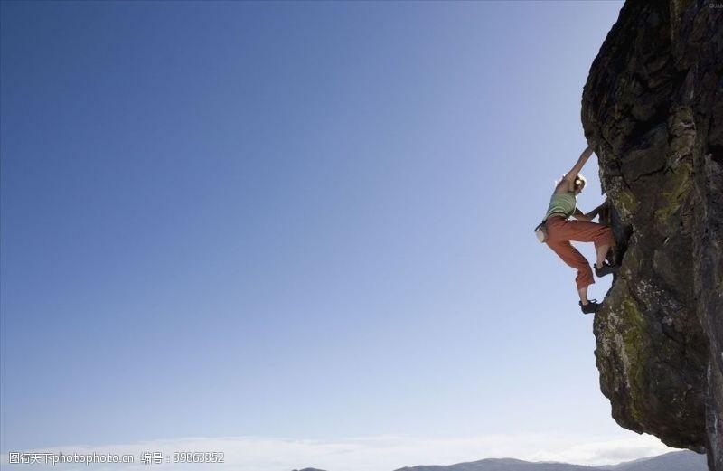 攀山攀登攀岩图片