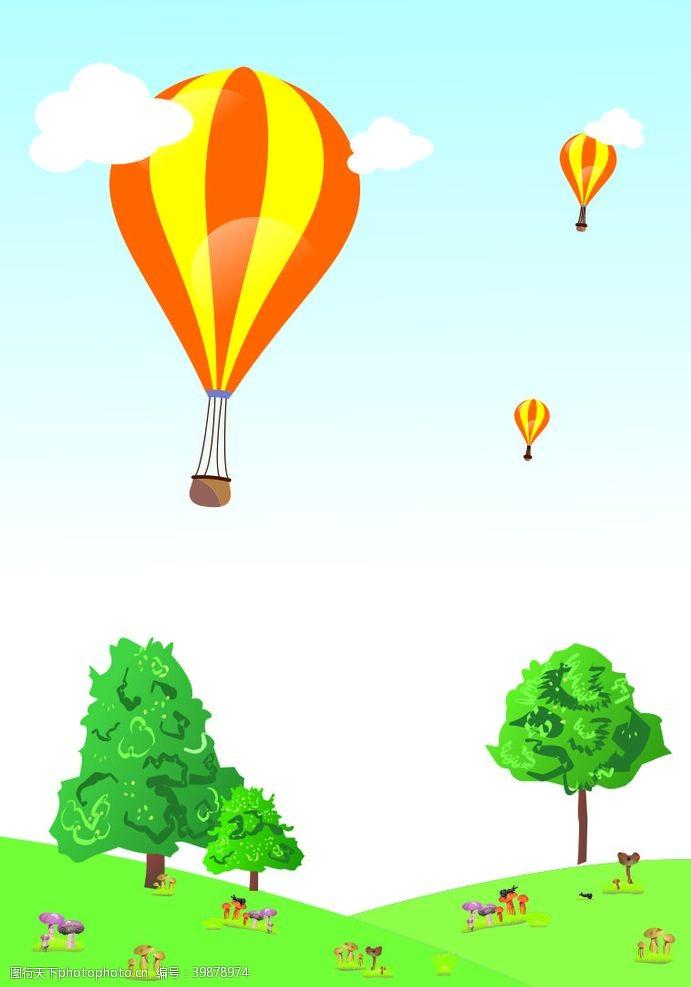 草地氢气球图片