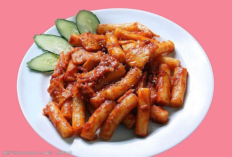 日韩料理炒年糕图片