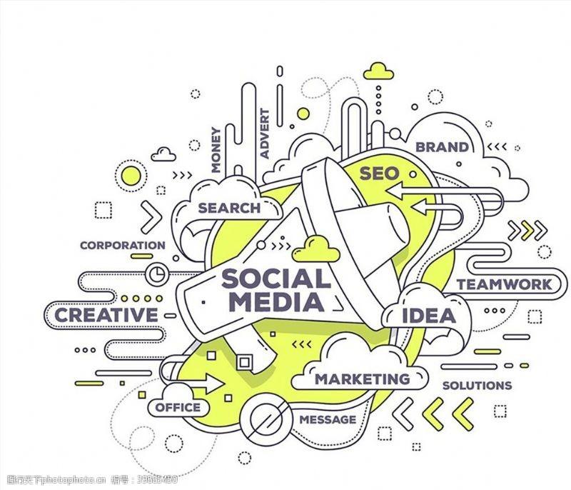 短信社交媒体示意图图片