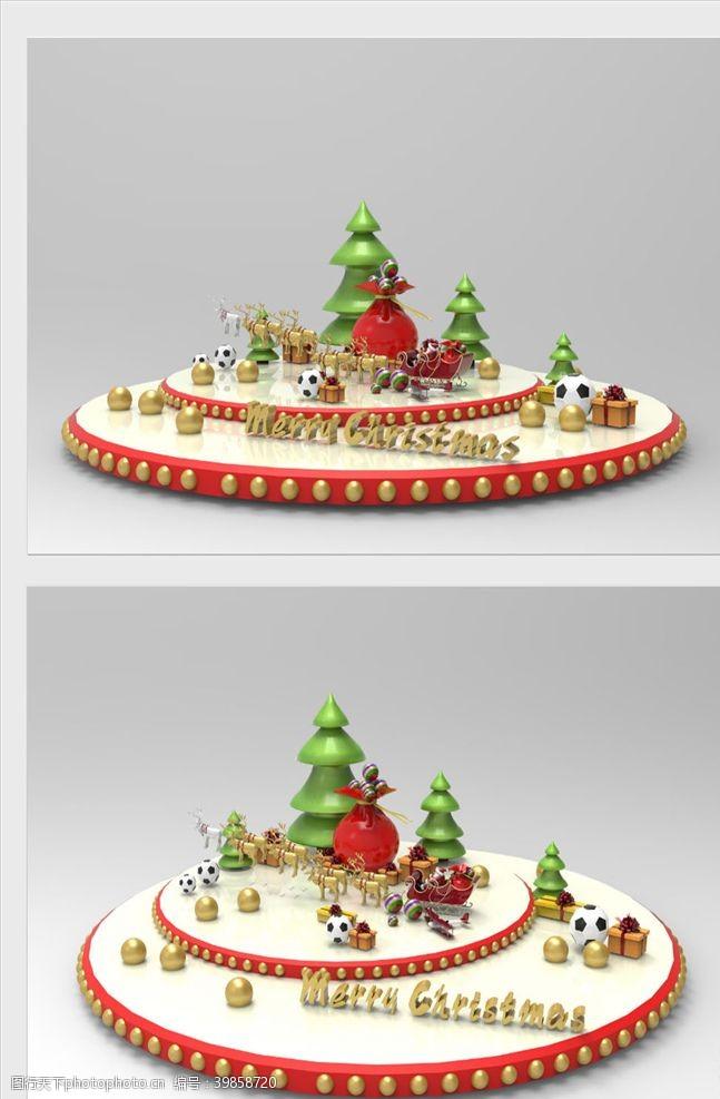 新年促销圣诞节美陈图片