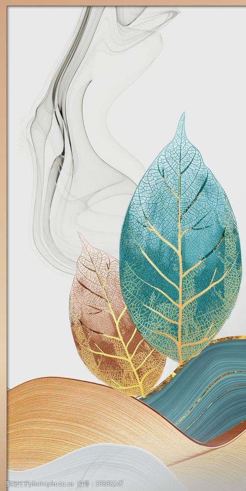 银杏叶树叶装饰画图片
