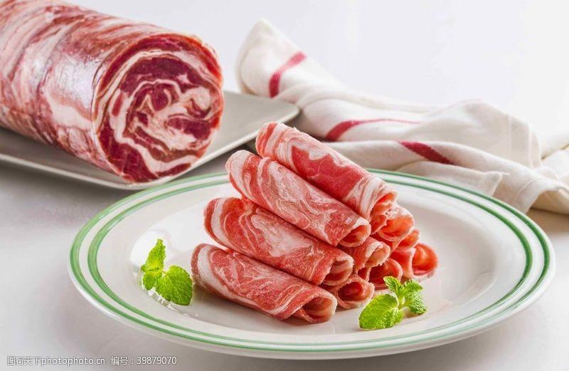 精美羊肉卷图片