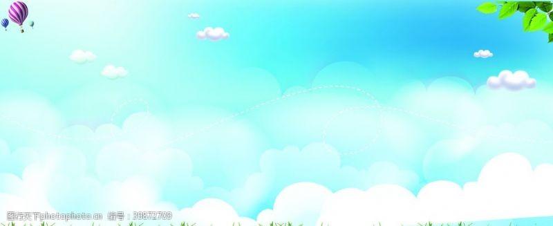 可爱卡通背景幼儿园标语图片
