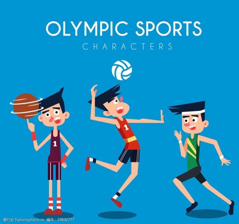 奥运会男运动员图片